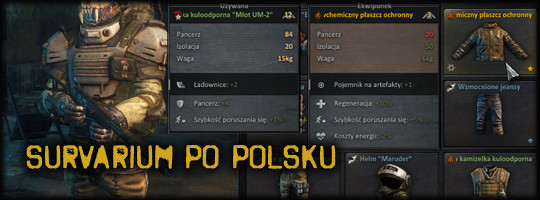 Interfejs Survarium po polsku